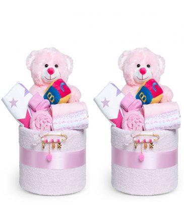 עוגת ההפתעות לתאומות - בנות
