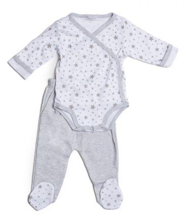 חליפה לתינוק או לתינוקת - אפור